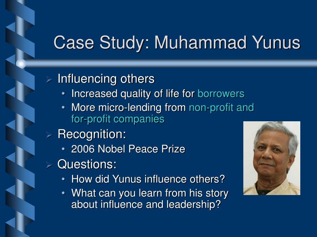 Case Study: Muhammad Yunus