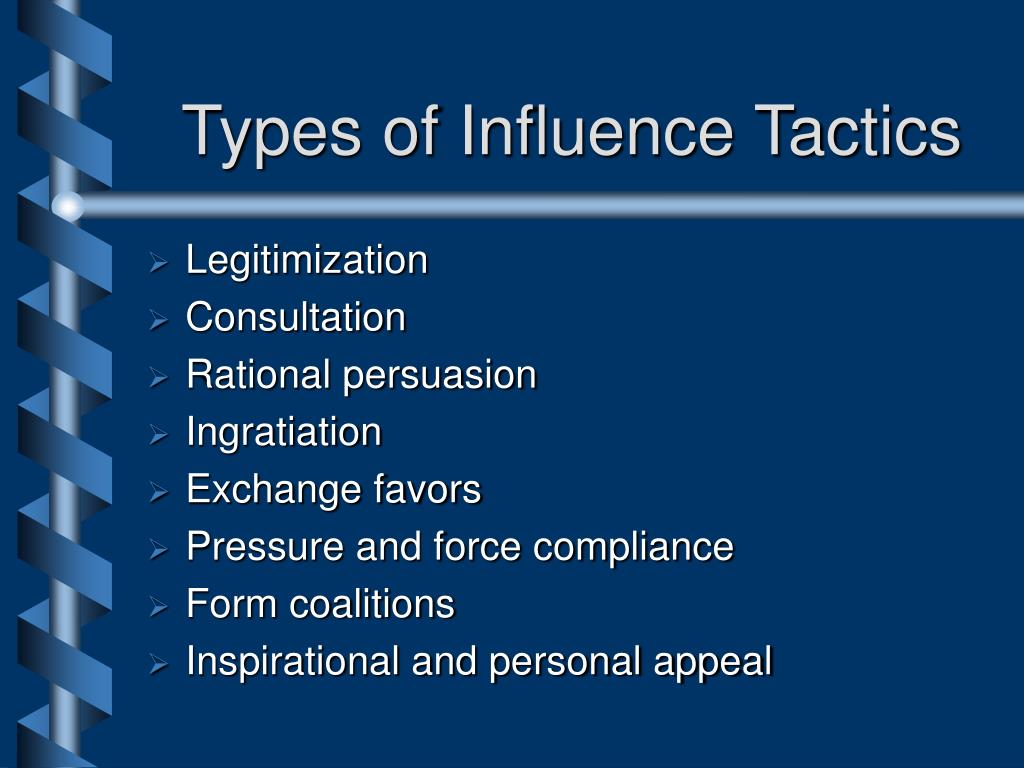 Types of Influence Tactics