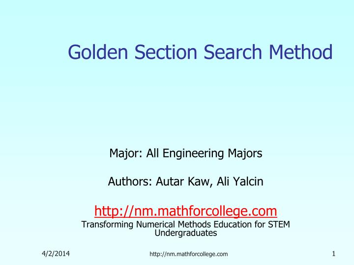 Golden section search method l.jpg
