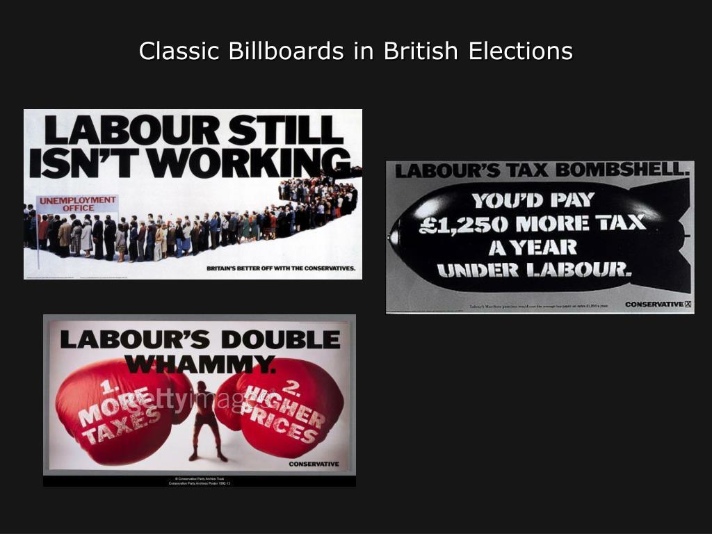 Classic Billboards in British Elections