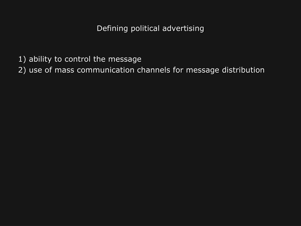 Defining political advertising
