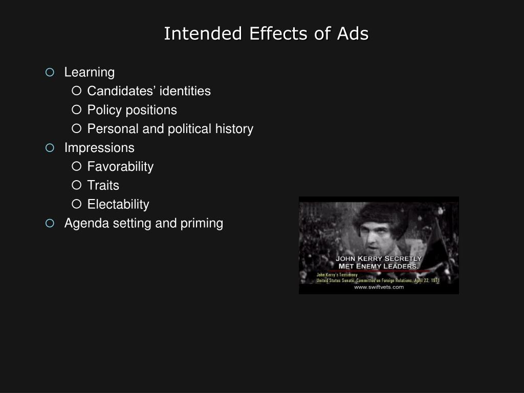 Intended Effects of Ads