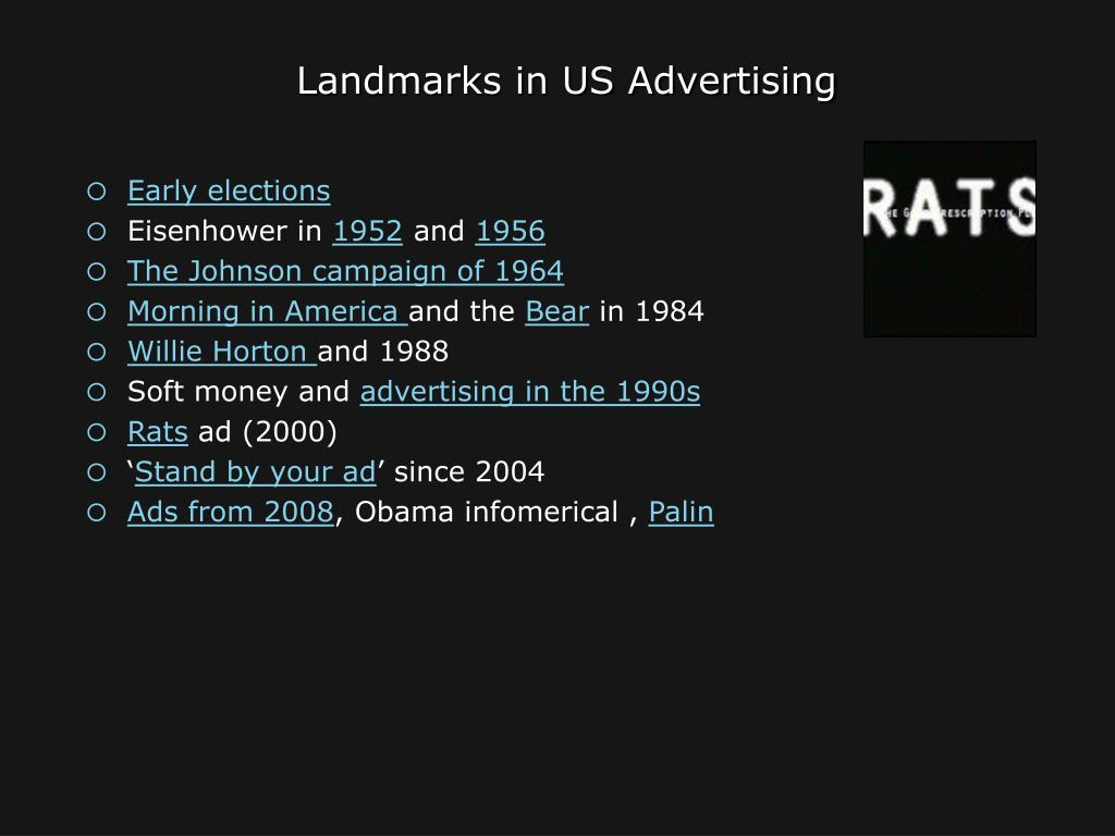 Landmarks in US Advertising