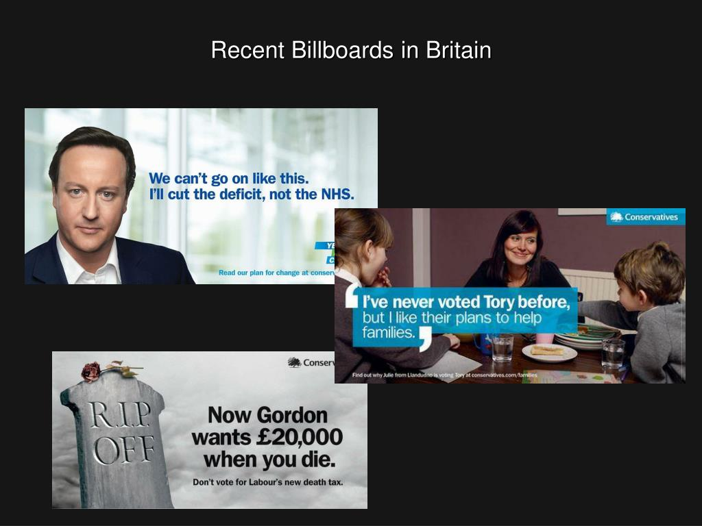 Recent Billboards in Britain