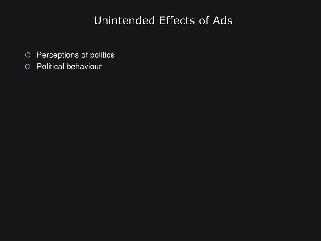 Unintended Effects of Ads