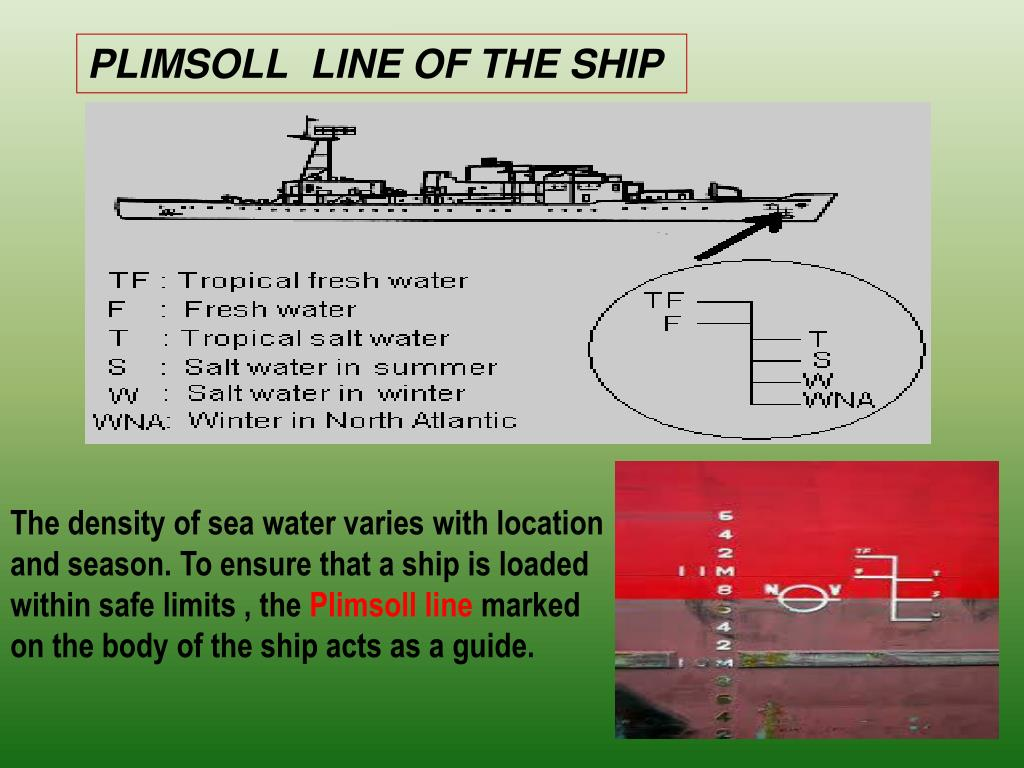PLIMSOLL  LINE OF THE SHIP