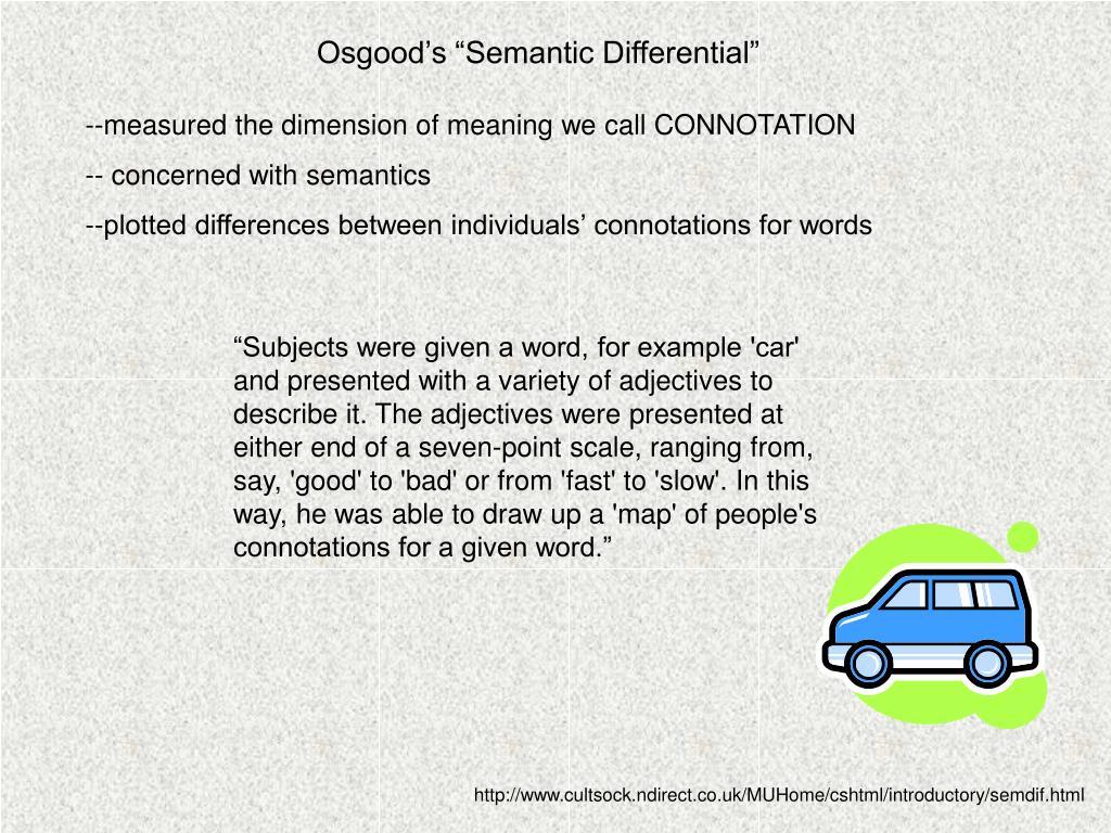 "Osgood's ""Semantic Differential"""