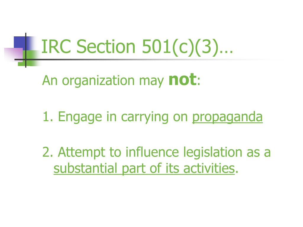 IRC Section 501(c)(3)…