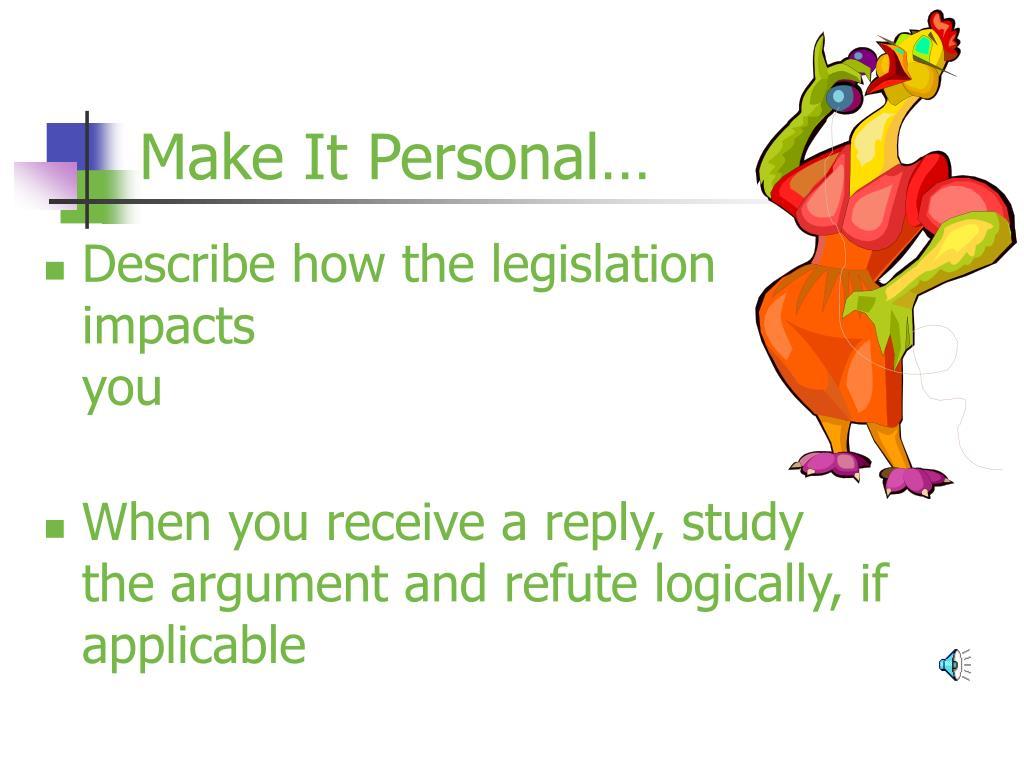 Make It Personal…
