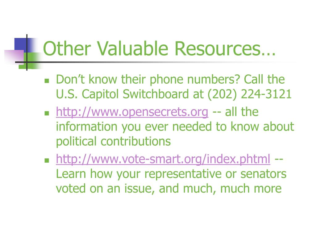 Other Valuable Resources…
