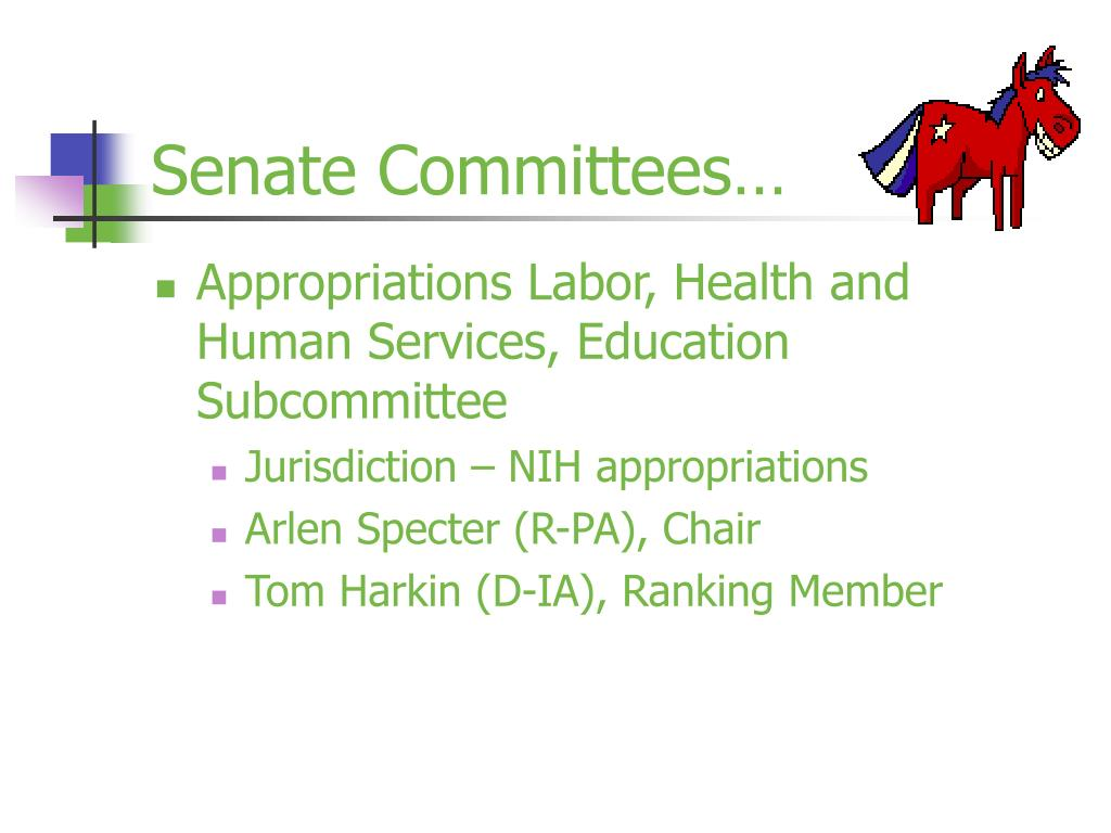 Senate Committees…
