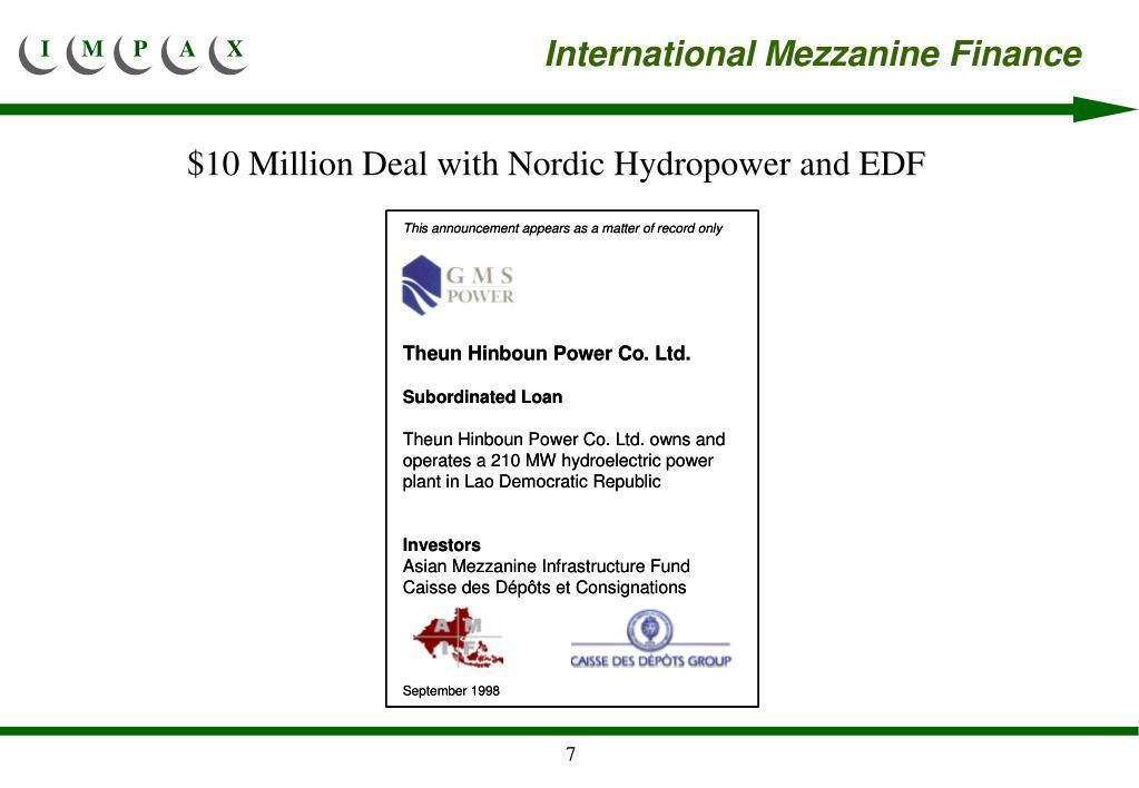 International Mezzanine Finance