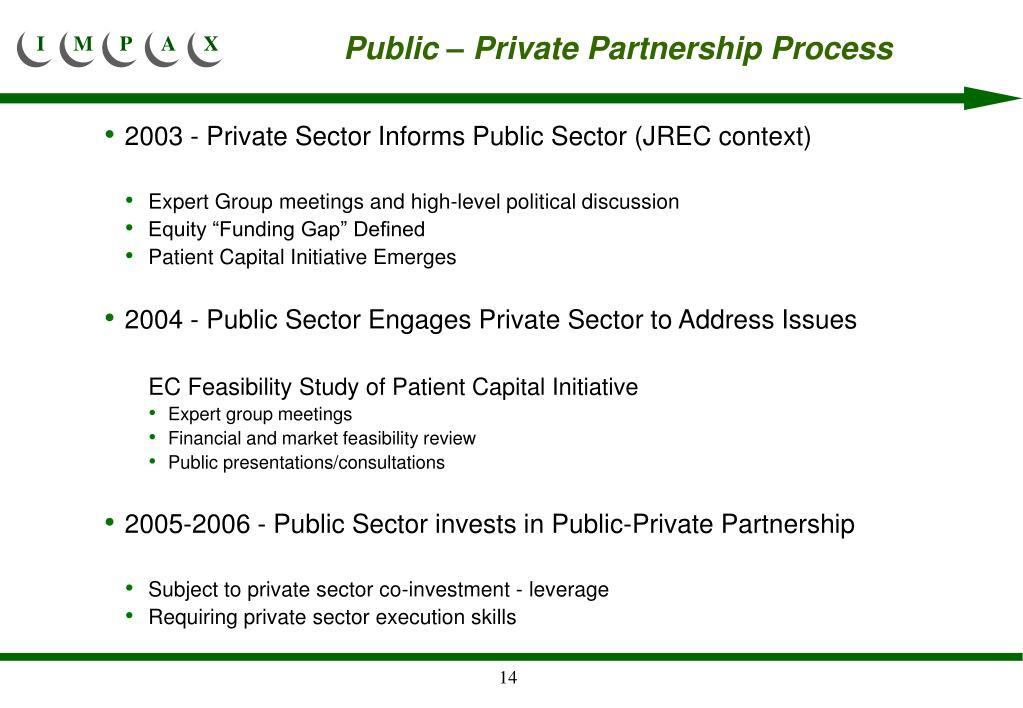 Public – Private Partnership Process