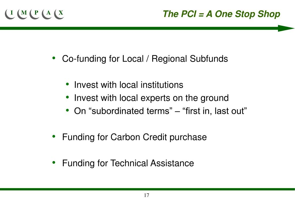 The PCI = A One Stop Shop