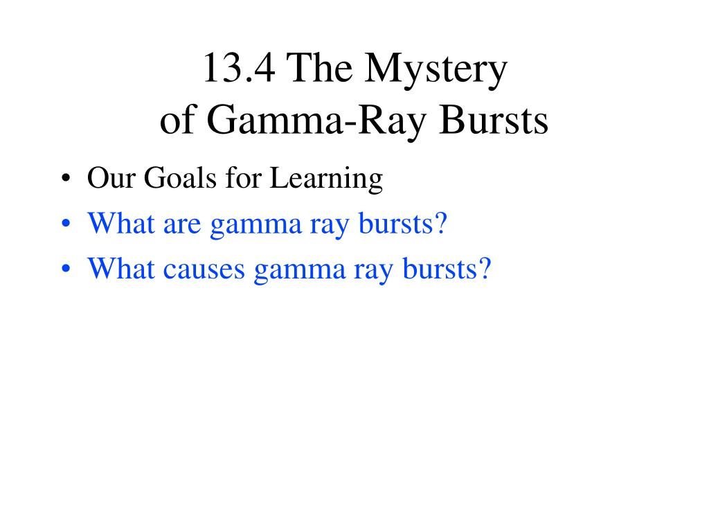 13.4 The Mystery