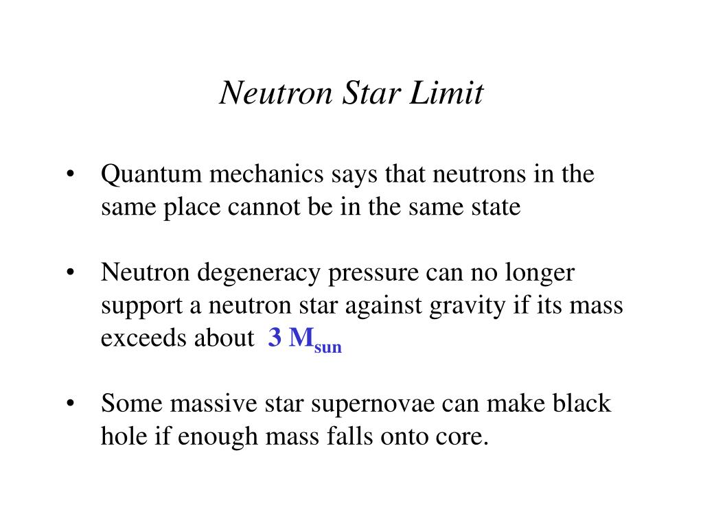 Neutron Star Limit