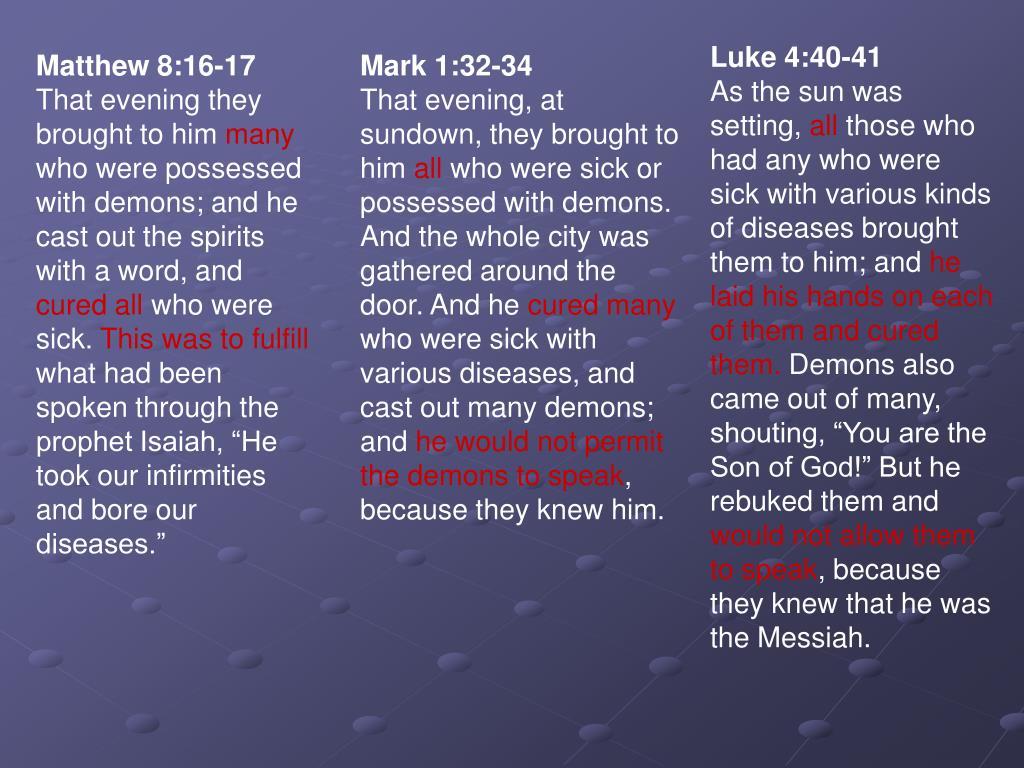 Luke 4:40-41