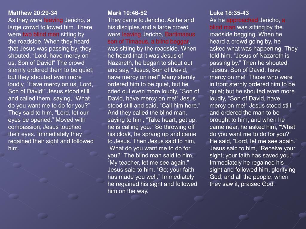 Matthew 20:29-34