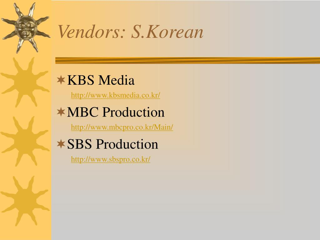 Vendors: S.Korean