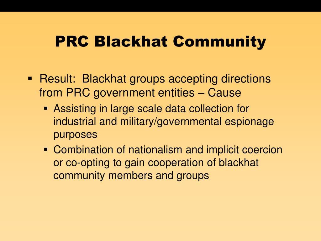 PRC Blackhat Community