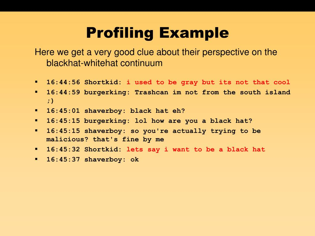Profiling Example