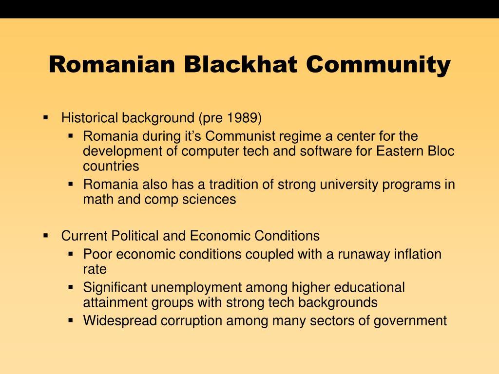 Romanian Blackhat Community