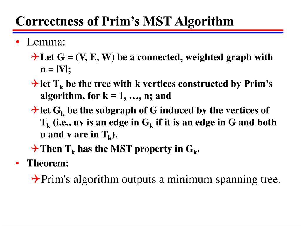 Correctness of Prim's MST Algorithm