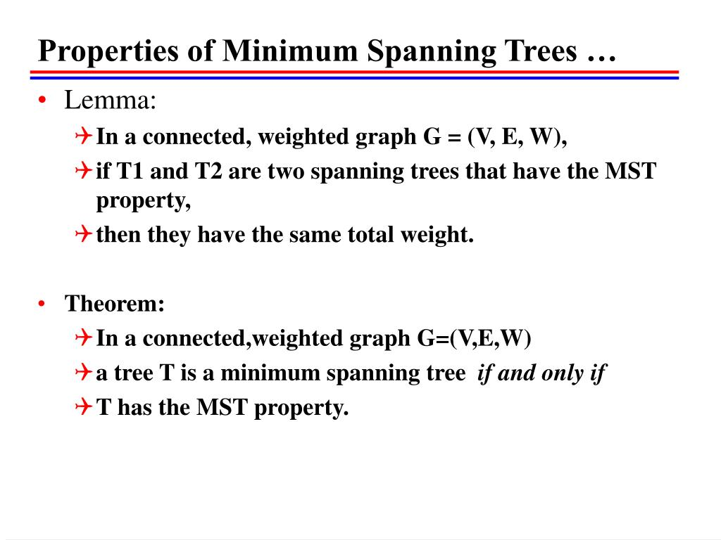 Properties of Minimum Spanning Trees …