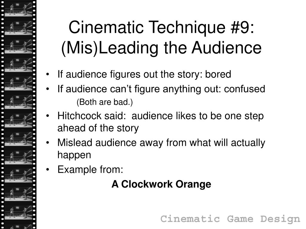 Cinematic Technique #9: