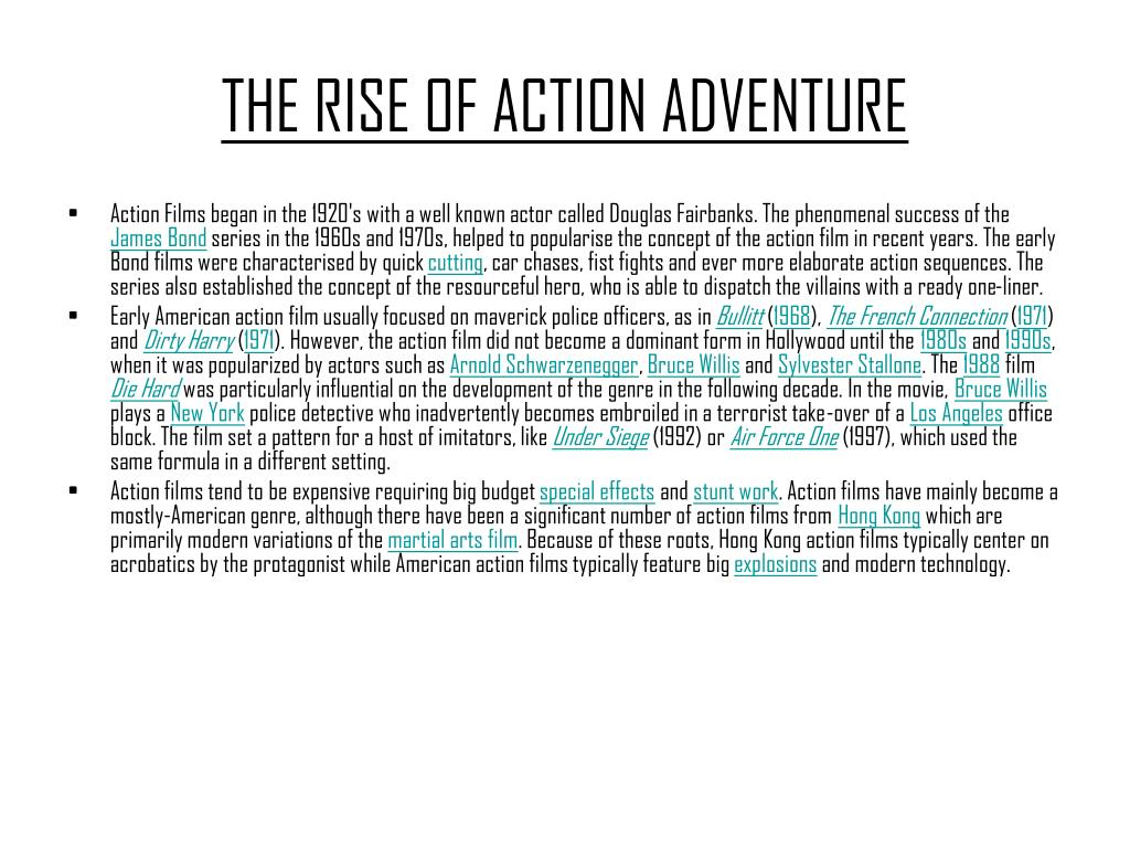 THE RISE OF ACTION ADVENTURE