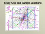 study area and sample locations
