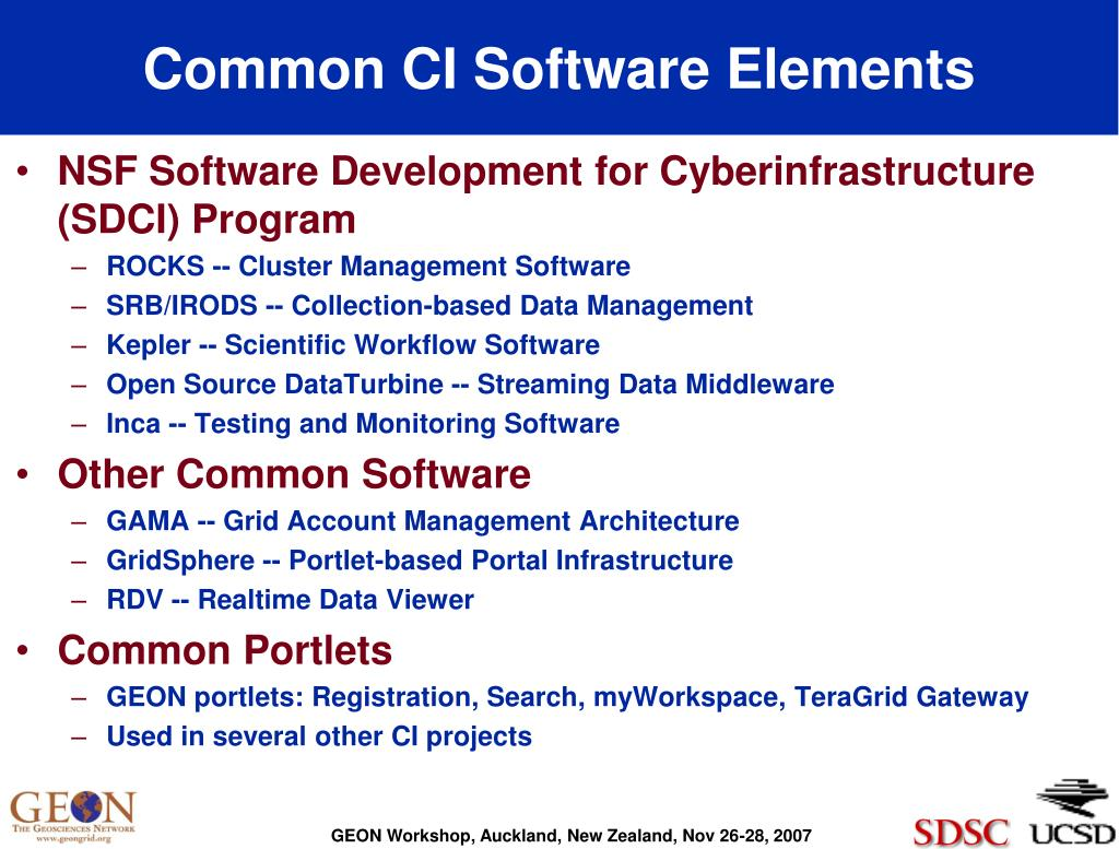 Common CI Software Elements