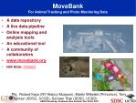 movebank for animal tracking and photo monitoring data