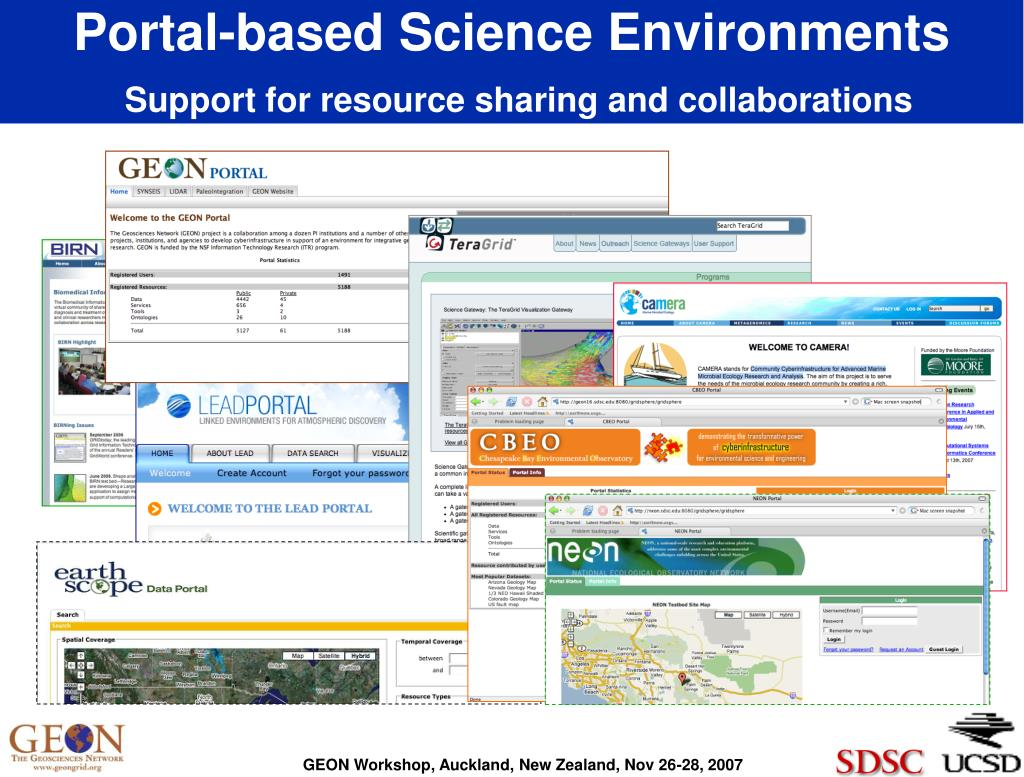 Portal-based Science Environments