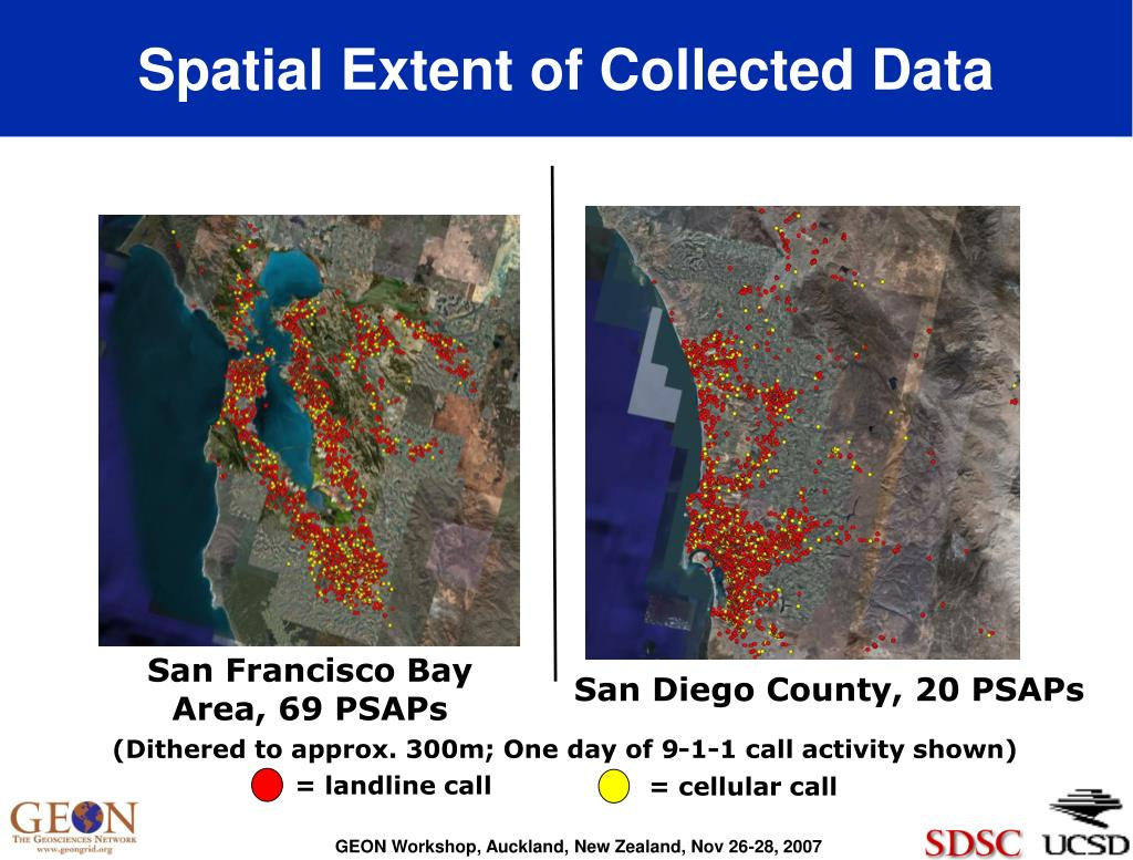Spatial Extent of Collected Data
