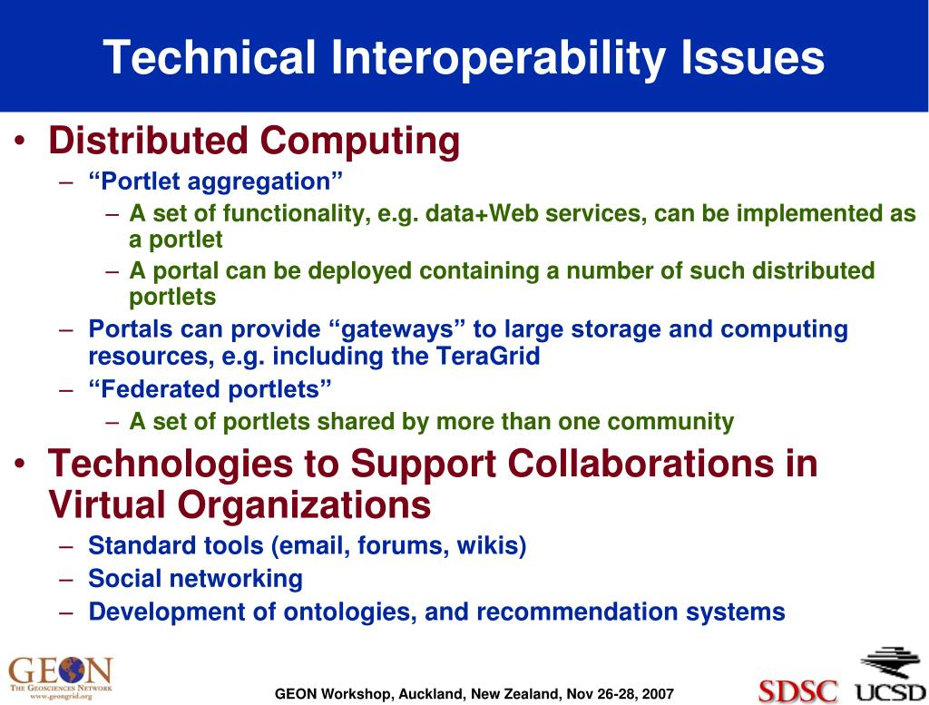Technical Interoperability Issues