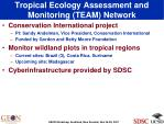 tropical ecology assessment and monitoring team network