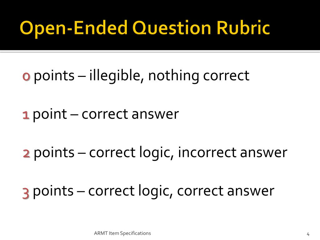 Open-Ended Question Rubric