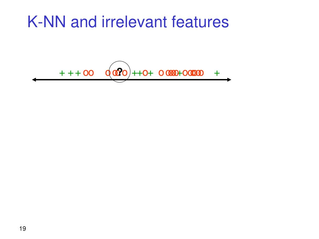 K-NN and irrelevant features
