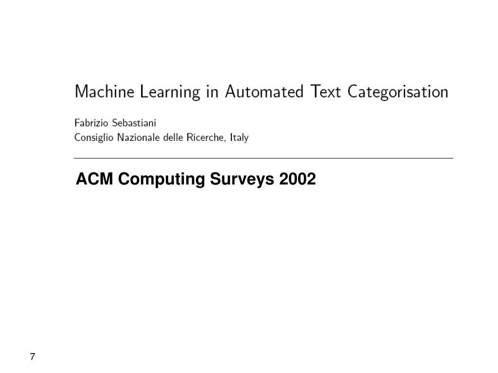 ACM Computing Surveys 2002