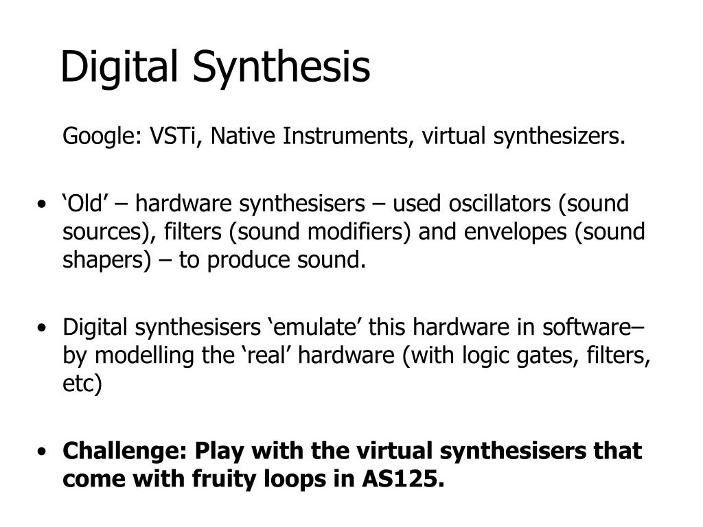 Digital Synthesis