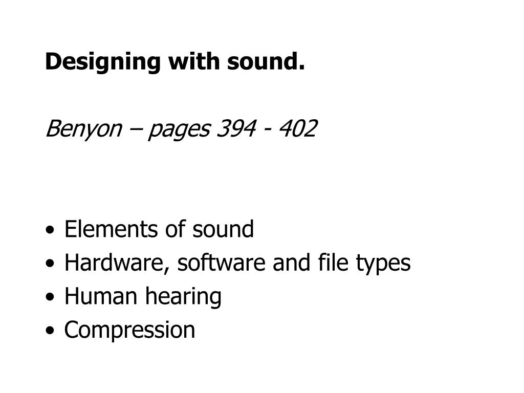 Designing with sound.