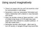 using sound imaginatively