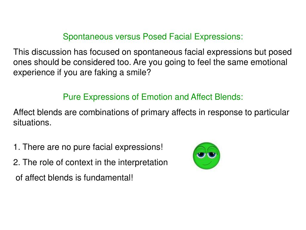 Spontaneous versus Posed Facial Expressions: