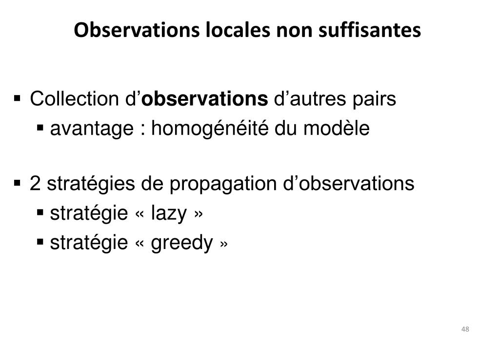 Observations locales non suffisantes