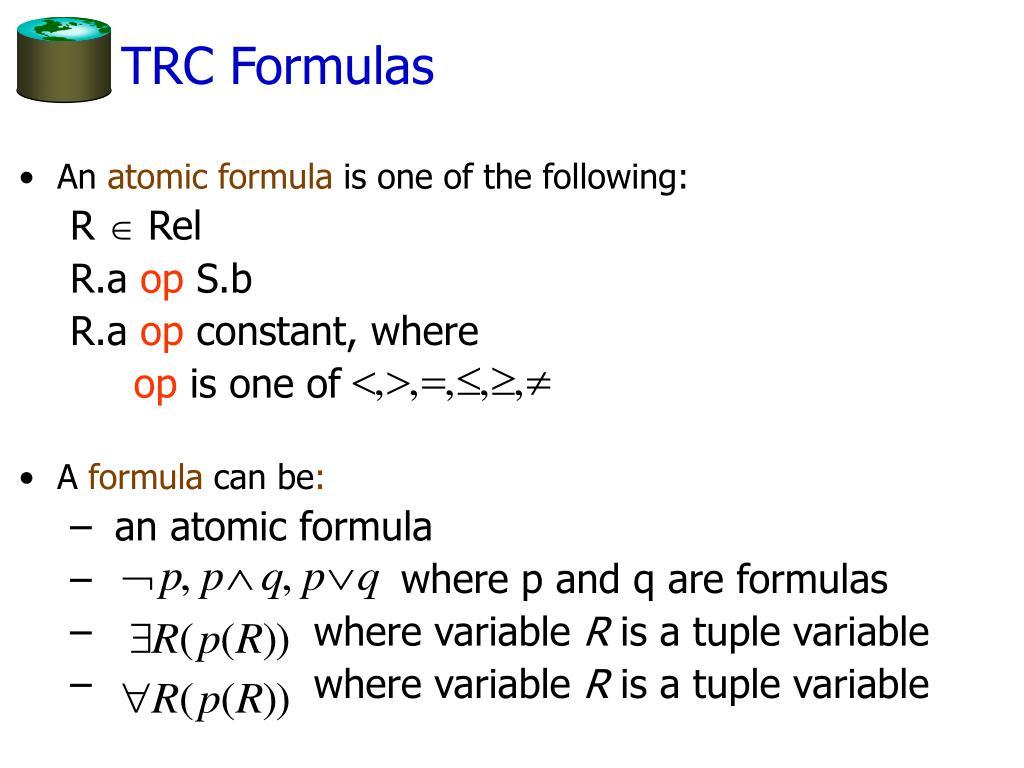 TRC Formulas