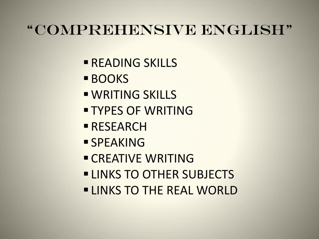 """COMPREHENSIVE ENGLISH"""