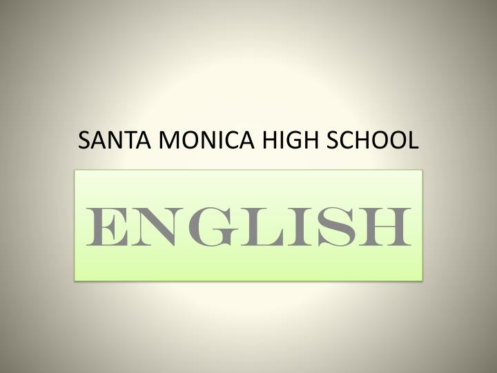 Santa monica high school