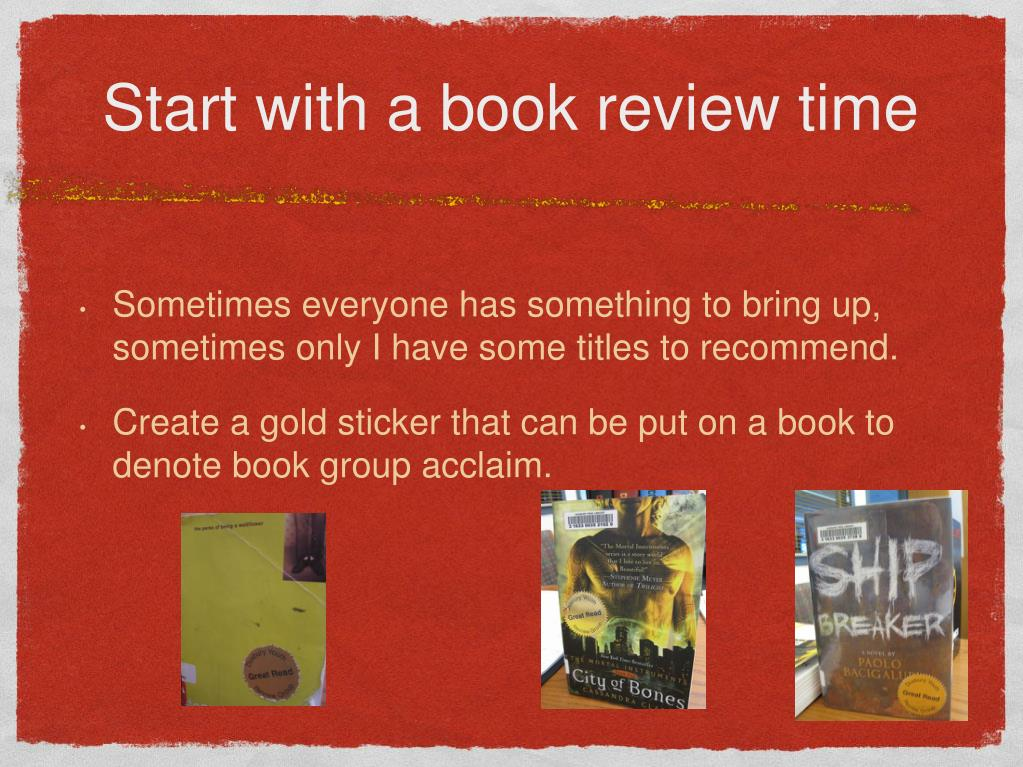 Start with a book review time