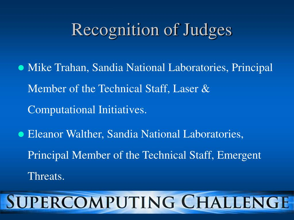 Recognition of Judges